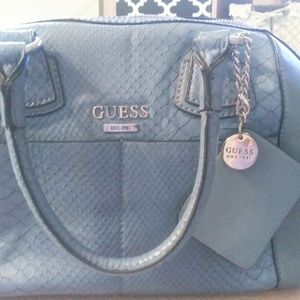 NWOT GUESS baby blue satchel